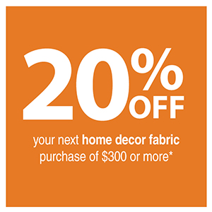 NY Home Decor Fabric Store Coupon