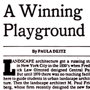 Eric Gerdes, New York Times Article – Architectural Student Designs a Winning Urban Playground