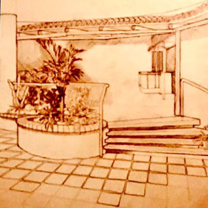 The Great American Club House - Sketch